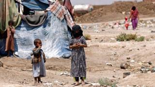 أطفال نازحون في اليمن