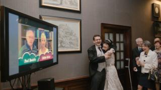 Celebrity wedding video