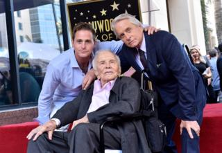 in_pictures Cameron Douglas, Kirk Douglas and Michael Douglas attend the ceremony honouring Michael Douglas with star on the Hollywood Walk of Fame