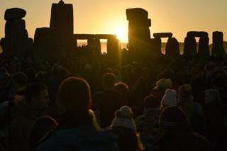 Sunrise over Stonehenge