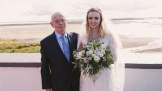 George Stewart pictured at his granddaughter's wedding in August