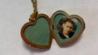 Locket with photo inside