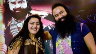Guru Ram Rahim Singh with his adopted daughter Honeypreet Insan