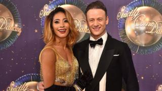 Karen and Kevin Clifton pictured in August 2017
