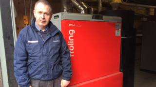 Colin Watt by one of his boilers