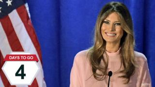 Melania Trump speaks at a rally for her husband in Berwyn, Pennsylvania - 3 November 2016 (AFP/Getty)