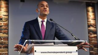 Labour MP Chuka Umunna announces his resignation from the Labour Party at a press conference