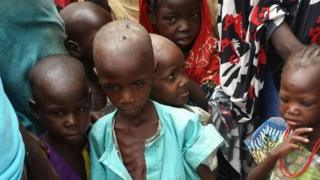 Children in Bama in Nigeria