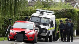 Police searches in Lurgan
