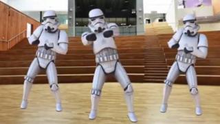 Bertha Park High School Star Wars assembly