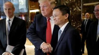 Mr Trump and Mr Ma at Trump Tower