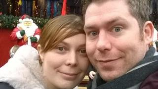 Tadhg Lydon and wife Jess