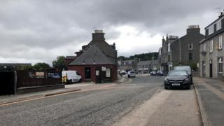 The pedestrian was struck near the Staging Post pub on Old Meldrum Road