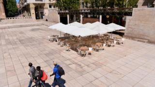 Shops and restaurants have closed in Lleida, Spain after an outbreak led authorities to impose new restrictions