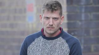 Gavin Collett arriving at Crawley Magistrates Court on 14 March