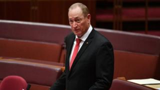 Fraser Anning speaking in the Senate on Tuesday