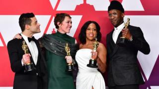 Rami Malek, Regina King, Olivia Colman and Mahershala Ali