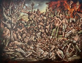 The Massacre of Srebrenica 2019 - Peter Howson