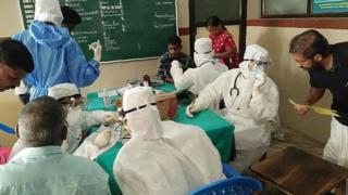 Une équipe soignante sur le terrain en Inde