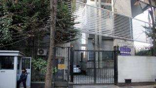 "A general view of Iran""s Embassy premises in Tirana, Albania, 20 December 2018"
