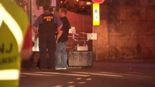 Bomb squad on the scene in Elizabeth New Jersey