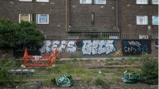 Railside graffiti