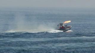 ایران کے سپاہ پاسداران انقلاب اسلامی کی کشتی کی پرانی تصویر
