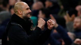 Guardiola surpassed Antonio Conte's mark of three consecutive wins