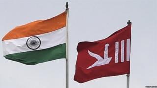 भारत और जम्मू-कश्मीर का झंडा