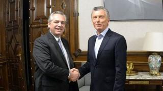 Alberto Fernández y Mauricio Macri, el día después de los comicios