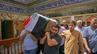 Похороны погибших в Ираке