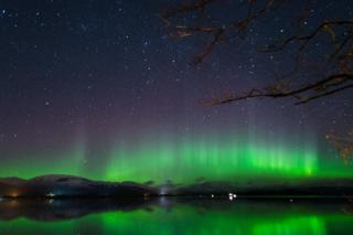 Northern Lights over Loch Lomond
