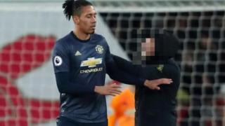 soccer- 105982275  105969276 arsenal fan2 censored - Arsenal v Manchester United: Man charged with Smalling assault