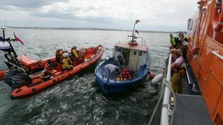 Fishing boat rescue off Sunderland