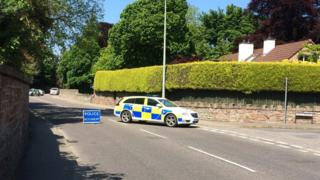Police car on Culduthel Road in Inverness
