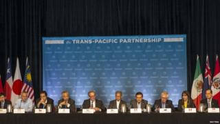 Pacific trade ministers at final press conference in Maui, Hawaii