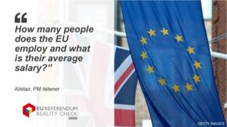 """A PM listener asks: """"How many people does the EU employ and what is their average salary?"""""""