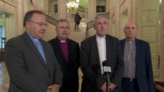 "The leaders of NI's main Churches said the conversation had been ""positive and encouraging"""