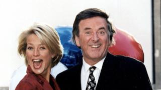 Ulrika Jonsson and Terry Wogan