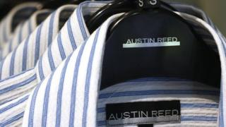 Austin Reed shirts on a rack