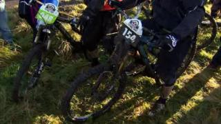 Mountain bikers on Cave Hill