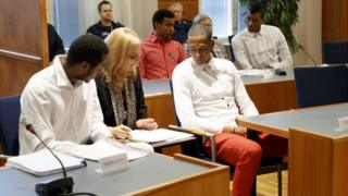 Players from Cuba's national volleyball team on trial in Tampere, 29 Aug 16