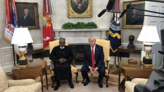 Onyeisiala Buhari na Traump