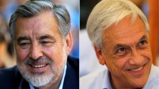 Alejandro Guillier e Sebastián Piñera