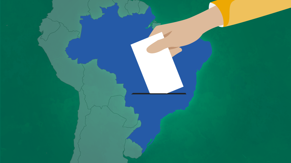 Ilustración con mapa de Brasil