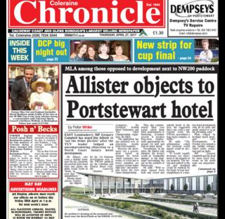 Chronicle front page