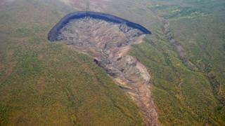 Размеры кратера растут с каждым годом