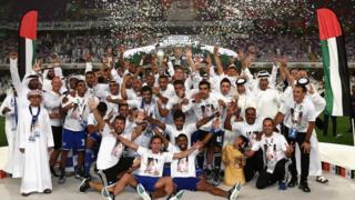 L'équipe d'Al Nasr à Al Ain, Émirats arabes unis, en 2015