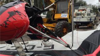Microlight recovered from River Cleddau