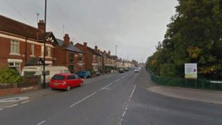 Hall Green Road at the junction with Almond Tree Avenue in Wood End